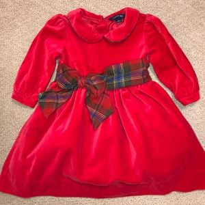 Lands End Christmas dress 2T